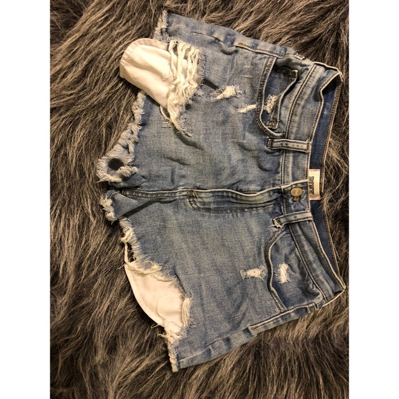 PINK Victoria's Secret Pants - Like new distressed VS PINK denim shorts